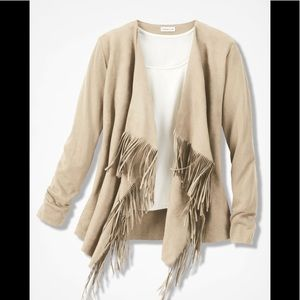 Coldwater Creek faux suede cardigan